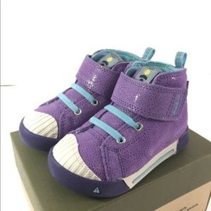 Keen 5 Baby Toddler Girl Purple Blue shoes
